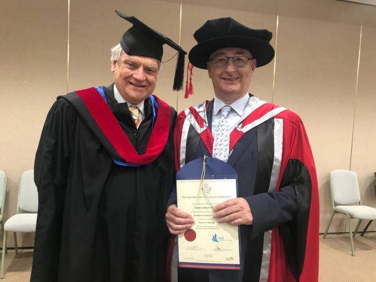 Andrew Stewart Receiving Doctorate